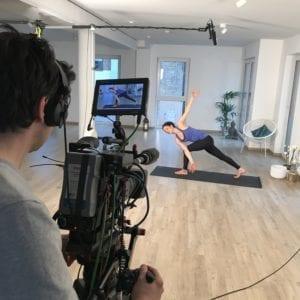 Aufnahmen zu einem online Yoga Video