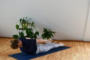 Yoga für Reiter - Asana Heuschrecke