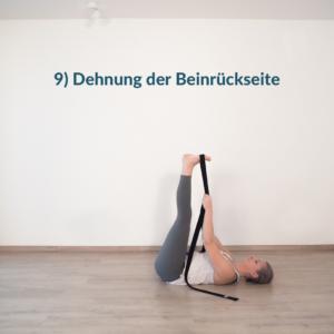 abschließende Dehnung im Yoga Flow für Hüfte und Leisten