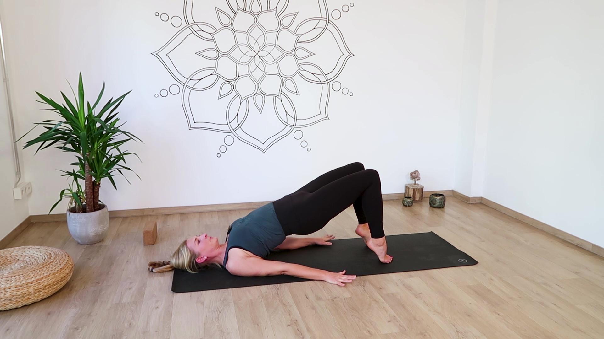 Yoga Übung Schulterbrücke