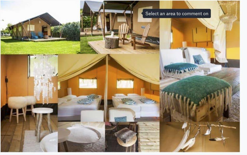 Yogaretreat in Domburg Safari tents